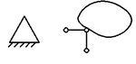 przegubowo nieprzesuwna symbol