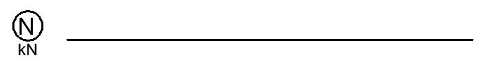 belka zlozona wykres sil osiowych normalnych